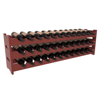Karnes Pine Scalloped 36 Bottle Tabletop Wine Rack Finish: Cherry Satin