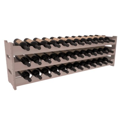 Karnes Redwood Scalloped 36 Bottle Tabletop Wine Rack Finish: Gray Satin