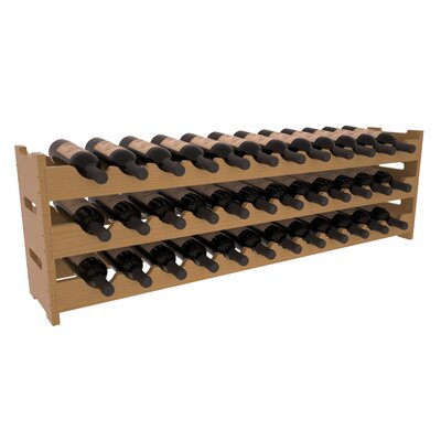 Karnes Pine Scalloped 36 Bottle Tabletop Wine Rack Finish: Oak Satin