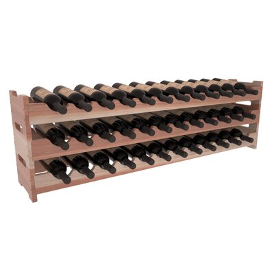 Karnes Redwood Scalloped 36 Bottle Tabletop Wine Rack Finish: Natural Satin