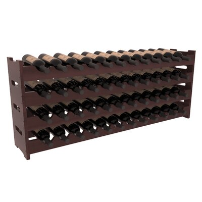 Karnes Redwood Scalloped 48 Bottle Tabletop Wine Rack Finish: Walnut Satin