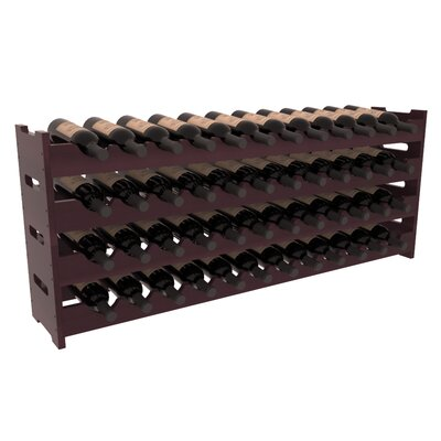 Karnes Redwood Scalloped 48 Bottle Tabletop Wine Rack Finish: Burgundy Satin
