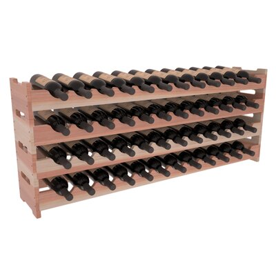 Karnes Redwood Scalloped 48 Bottle Tabletop Wine Rack Finish: Natural Satin