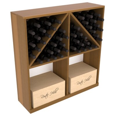 Karnes Redwood 96 Bottle Floor Wine Rack Finish: Oak Satin