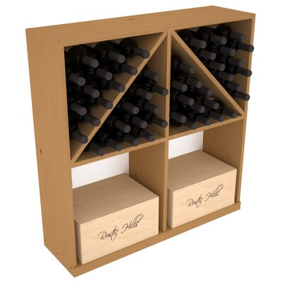 Karnes Pine 96 Bottle Floor Wine Rack Finish: Oak