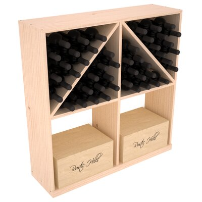 Karnes Pine 96 Bottle Floor Wine Rack Finish: Natural Satin