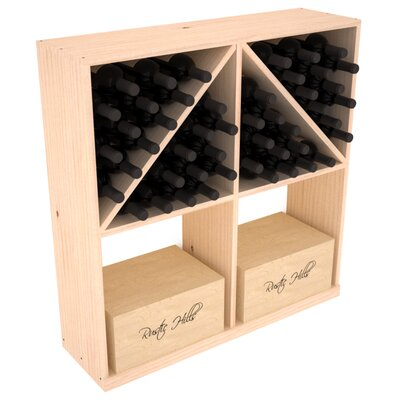 Karnes Pine 96 Bottle Floor Wine Rack Finish: Natural