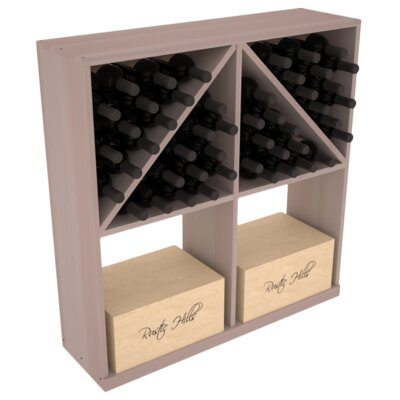 Karnes Redwood 96 Bottle Floor Wine Rack Finish: Gray
