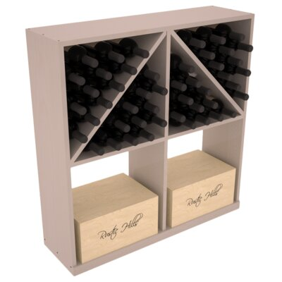 Karnes Pine 96 Bottle Floor Wine Rack Finish: Gray Satin