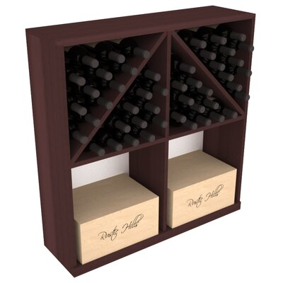 Karnes Redwood 96 Bottle Floor Wine Rack Finish: Walnut