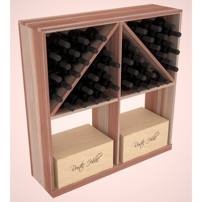 Karnes Redwood 96 Bottle Floor Wine Rack Finish: Natural