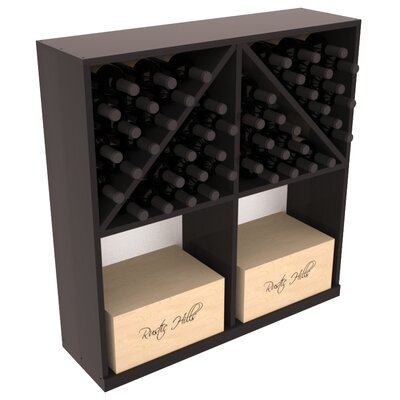 Karnes Redwood 96 Bottle Floor Wine Rack Finish: Black Satin
