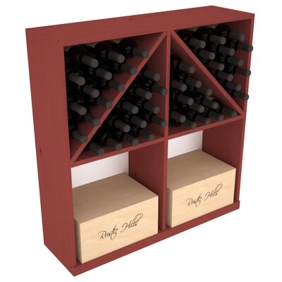 Karnes Pine 96 Bottle Floor Wine Rack Finish: Cherry