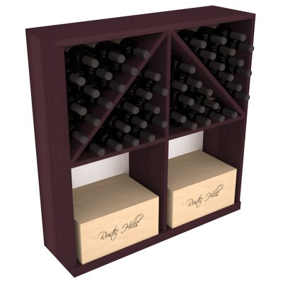 Karnes Redwood 96 Bottle Floor Wine Rack Finish: Burgundy