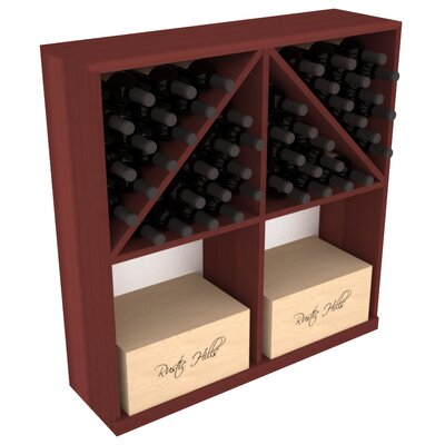 Karnes Redwood 96 Bottle Floor Wine Rack Finish: Cherry
