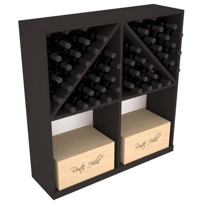 Karnes Pine 96 Bottle Floor Wine Rack Finish: Black