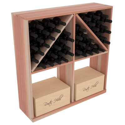 Karnes Redwood 96 Bottle Floor Wine Rack Finish: Natural Satin
