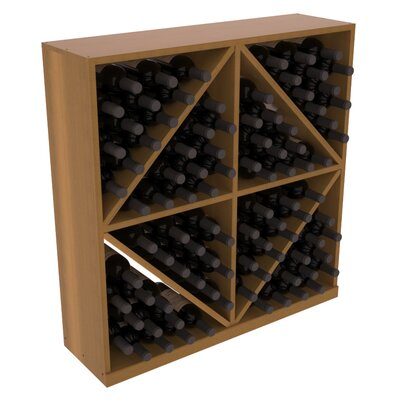 Karnes Redwood Diamond Storage 96 Bottle Floor Wine Rack Finish: Oak Satin