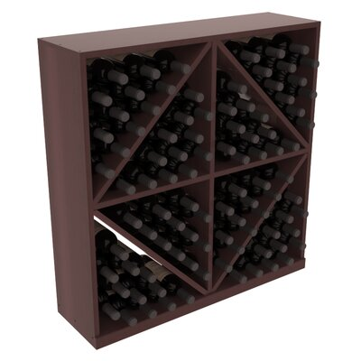 Karnes Redwood Diamond Storage 96 Bottle Floor Wine Rack Finish: Walnut Satin