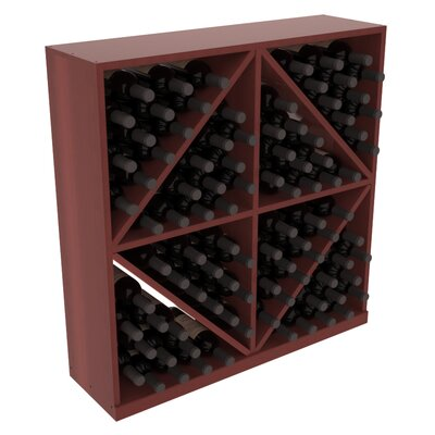 Karnes Redwood Diamond Storage 96 Bottle Floor Wine Rack Finish: Cherry Satin