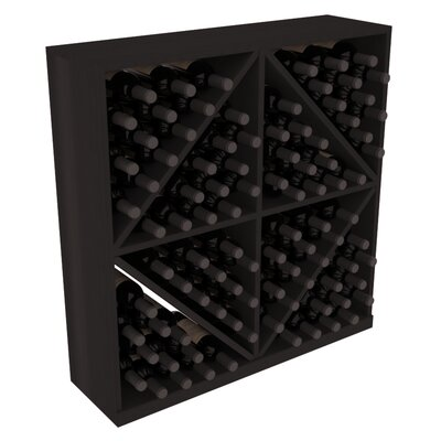 Karnes Redwood Diamond Storage 96 Bottle Floor Wine Rack Finish: Black