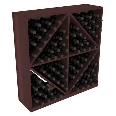 Karnes Redwood Diamond Storage 96 Bottle Floor Wine Rack Finish: Walnut