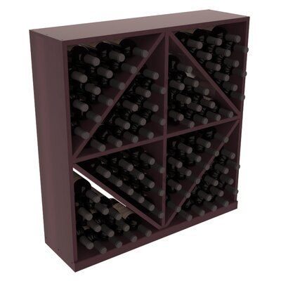 Karnes Redwood Diamond Storage 96 Bottle Floor Wine Rack Finish: Burgundy Satin