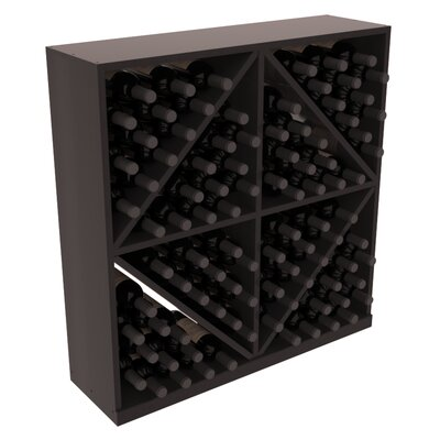 Karnes Redwood Diamond Storage 96 Bottle Floor Wine Rack Finish: Black Satin