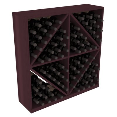 Karnes Redwood Diamond Storage 96 Bottle Floor Wine Rack Finish: Burgundy