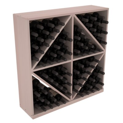Karnes Redwood Diamond Storage 96 Bottle Floor Wine Rack Finish: Gray Satin
