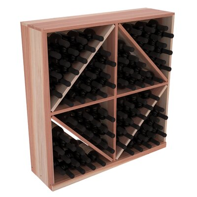 Karnes Redwood Diamond Storage 96 Bottle Floor Wine Rack Finish: Natural Satin