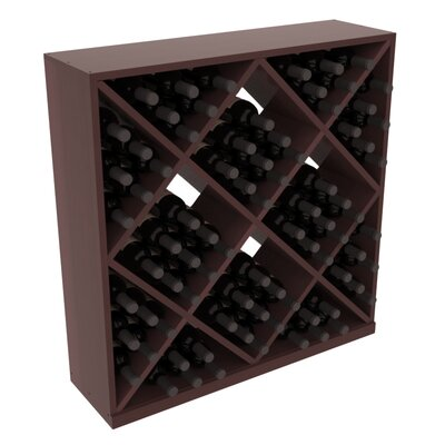 Karnes Redwood Diamond Cube 82 Bottle Floor Wine Rack Finish: Walnut Satin