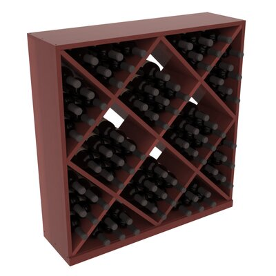 Karnes Redwood Diamond Cube 82 Bottle Floor Wine Rack Finish: Cherry Satin