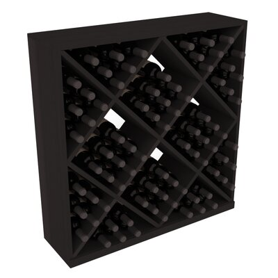Karnes Redwood Diamond Cube 82 Bottle Floor Wine Rack Finish: Black