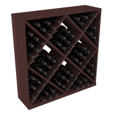 Karnes Redwood Diamond Cube 82 Bottle Floor Wine Rack Finish: Walnut