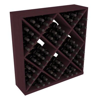 Karnes Redwood Diamond Cube 82 Bottle Floor Wine Rack Finish: Burgundy