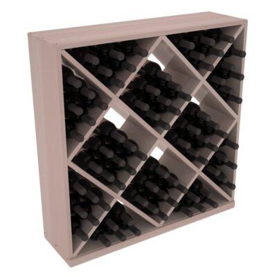 Karnes Redwood Diamond Cube 82 Bottle Floor Wine Rack Finish: Gray Satin