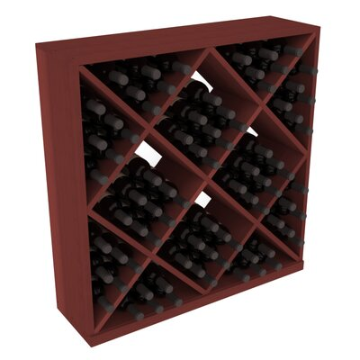 Karnes Redwood Diamond Cube 82 Bottle Floor Wine Rack Finish: Cherry