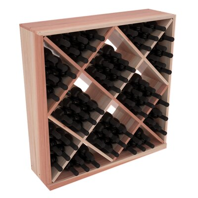 Karnes Redwood Diamond Cube 82 Bottle Floor Wine Rack Finish: Natural Satin