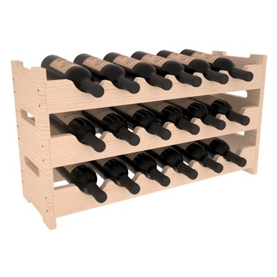 Karnes Pine Mini Scalloped 18 Bottle Tabletop Wine Rack Finish: Natural