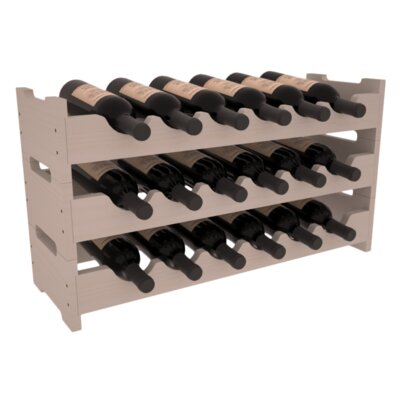 Karnes Pine Mini Scalloped 18 Bottle Tabletop Wine Rack Finish: Gray