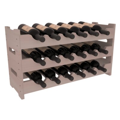 Karnes Redwood Mini Scalloped 18 Bottle Tabletop Wine Rack Finish: Gray