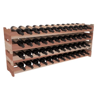 Karnes Redwood Scalloped 48 Bottle Tabletop Wine Rack Finish: Natural