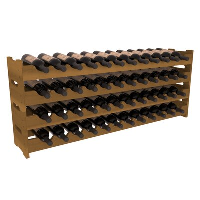 Karnes Redwood Scalloped 48 Bottle Tabletop Wine Rack Finish: Oak