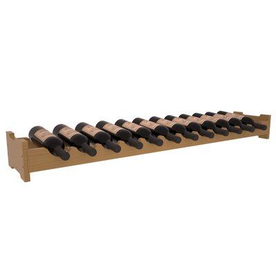 Karnes Pine Scalloped 12 Bottle Tabletop Wine Rack Finish: Oak Satin