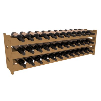 Karnes Pine Scalloped 36 Bottle Tabletop Wine Rack Finish: Oak
