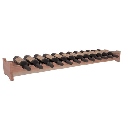 Karnes Redwood Scalloped 12 Bottle Tabletop Wine Rack Finish: Natural Satin