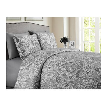 Wolf Hills Reversible Duvet Set Color: Gray, Size: King