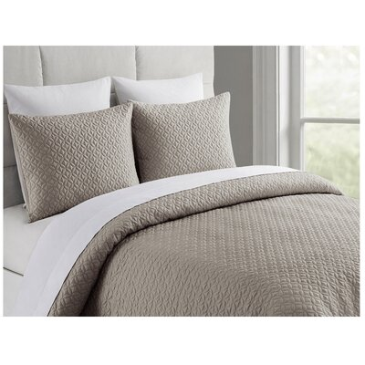 Ridgeway Bamboo Coverlet Set Color: Sand, Size: King