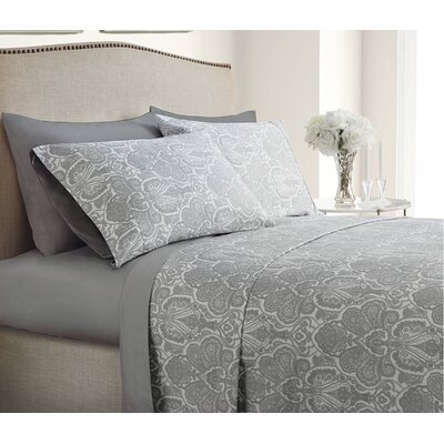 Inglewood Reversible 400 Thread Count Cotton Sheet Set Size: California King, Color: White